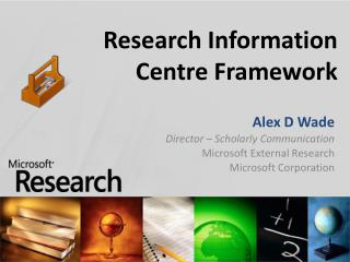 Research Information Centre Framework