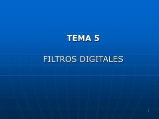 TEMA 5 FILTROS DIGITALES