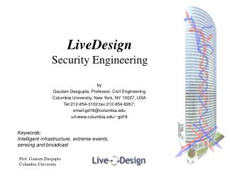 LiveDesign Security Engineering