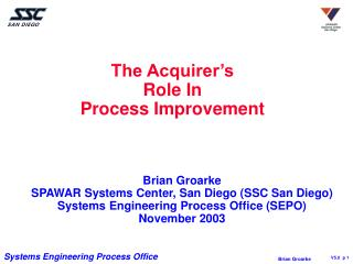 The Acquirer s  Role In Process Improvement