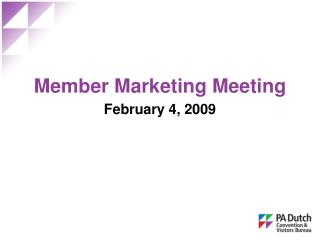 Member Marketing Meeting