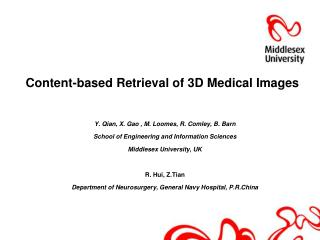 Content-based Retrieval of 3D Medical Images