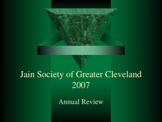 Jain Society of Greater Cleveland 2007