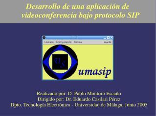 Desarrollo de una aplicación de videoconferencia bajo protocolo SIP
