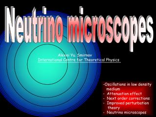 Neutrino microscopes