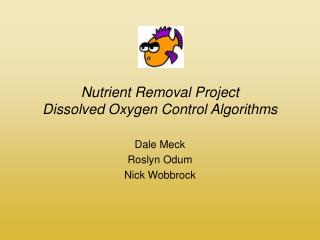 Nutrient Removal Project Dissolved Oxygen Control Algorithms