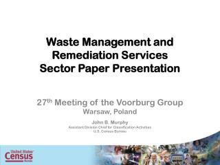 Waste Management and Remediation Services Sector Paper Presentation