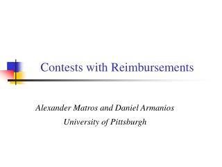 Contests with Reimbursements