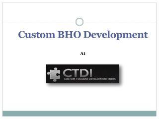Custom BHO Development