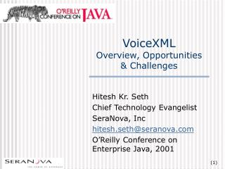 VoiceXML Overview, Opportunities & Challenges
