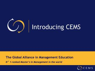 Introducing CEMS