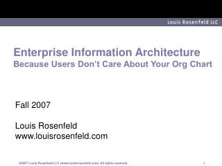 Enterprise Information Architecture Because Users Don t Care About Your Org Chart