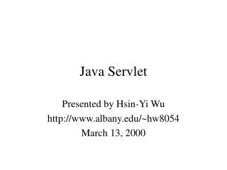 Java Servlet