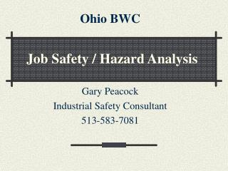 Job Safety / Hazard Analysis