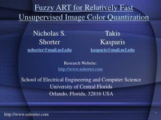 Fuzzy ART for Relatively Fast Unsupervised Image Color Quantization