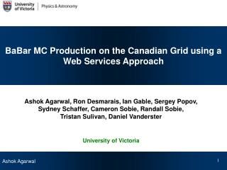 BaBar MC Production on the Canadian Grid using a Web Services Approach