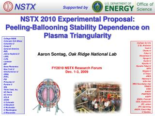 NSTX 2010 Experimental Proposal: Peeling-Ballooning Stability Dependence on Plasma Triangularity