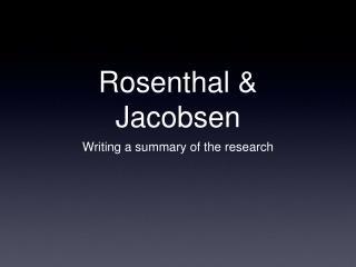 Rosenthal  Jacobsen
