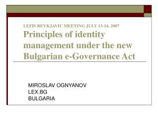 MIROSLAV OGNYANOV LEX.BG BULGARIA
