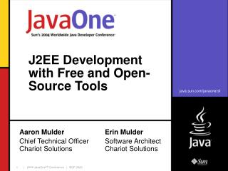 J2EE Development with Free and Open-Source Tools