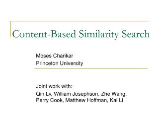 Content-Based Similarity Search