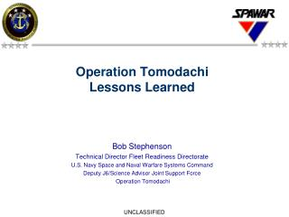 Operation Tomodachi Lessons Learned