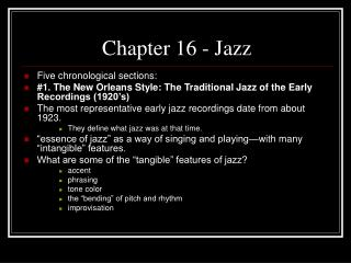 Chapter 16 - Jazz