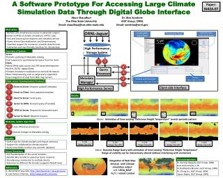A Software Prototype For Accessing Large Climate Simulation Data Through Digital Globe Interface