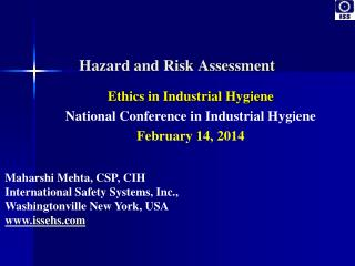 Ethics in Industrial Hygiene National Conference