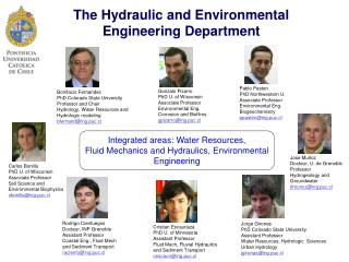 The Hydraulic and Environmental Engineering Department