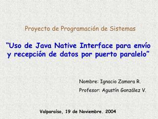 Proyecto de Programación de Sistemas