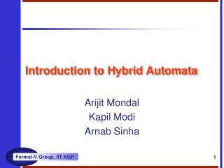 Introduction to Hybrid Automata