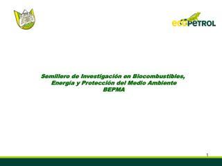 Semillero de Investigación en Biocombustibles,  Energía y Protección del Medio Ambiente  BEPMA
