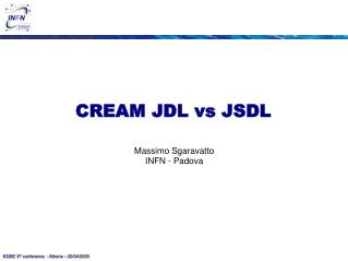 CREAM JDL vs JSDL