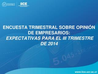 Encuesta Trimestral sobre Opinión de Empresarios:  Expectativas para el  III  trimestre de  2014