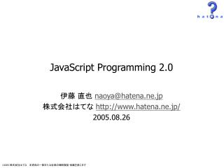JavaScript Programming 2.0