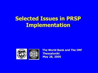 Selected Issues in PRSP Implementation