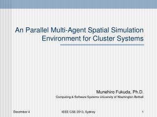 An Parallel Multi-Agent Spatial Simulation Environment for Cluster Systems