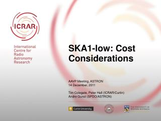 SKA1-low: Cost Considerations