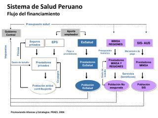 Sistema de Salud Peruano  Flujo del financiamiento