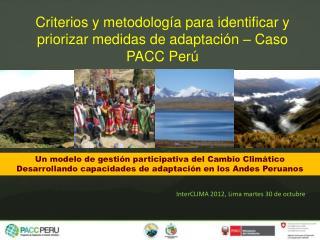 Un modelo de gestión participativa del Cambio Climático