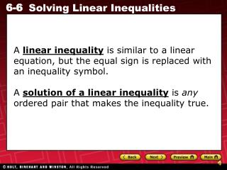 Tell whether the ordered pair is a solution of the inequality.