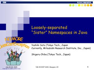 "Loosely-separated  ""Sister"" Namespaces in Java"