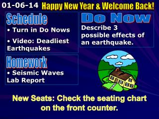 Turn in Do Nows  Video: Deadliest Earthquakes