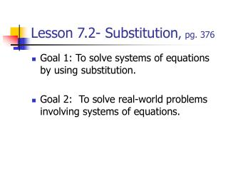Lesson 7.2- Substitution ,  pg. 376