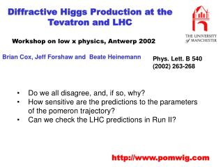Diffractive Higgs Production at the Tevatron and LHC
