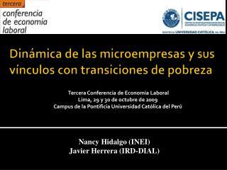 Din�mica de las microempresas y sus v�nculos con transiciones de pobreza