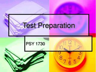 Test Preparation PSY 1730 Key Concepts