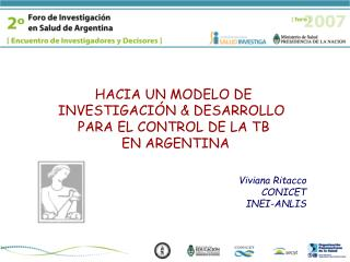 Viviana Ritacco CONICET INEI-ANLIS