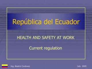 Rep�blica del Ecuador